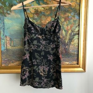 WILFRED floral bustier top